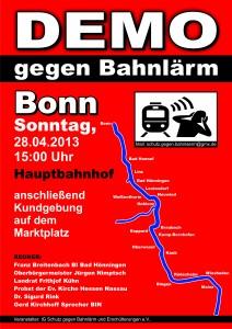 Bahnlärm-Demo
