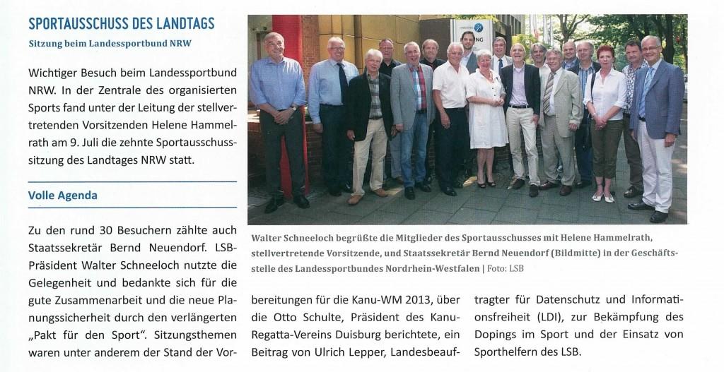 LSB Sportausschuss Juli 2013