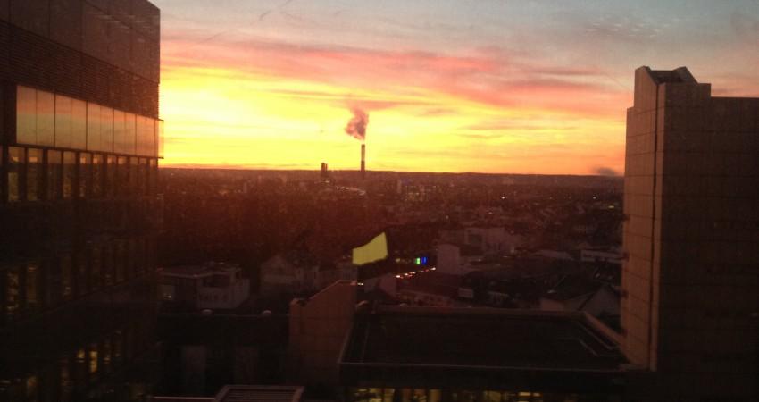 Blick auf Bonn Sonnenuntergang