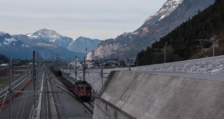 Gotthard-Basistunnel Nordportal 2016