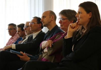 V.r.n.l.: Michèle Eichhorn, Gisela Nacken, Kai Schulte, Nils Zeino-Mahmalat, Theo Jansen, Arndt Klocke und Andreas Wolter